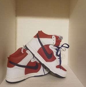 🇺🇸NIKE DUNK HIGH Red White Blue 7M or 8.5W